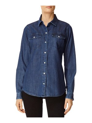 J Brand Perfect Denim Button-Front Long-Sleeve Shirt