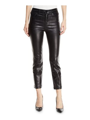 J Brand Ruby High-Rise Crop Cigarette Coated Jeans