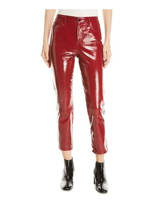 J Brand Ruby Leather High-Rise Crop Cigarette Pants