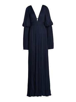 J. Mendel tiered flare-sleeve chiffon silk gown