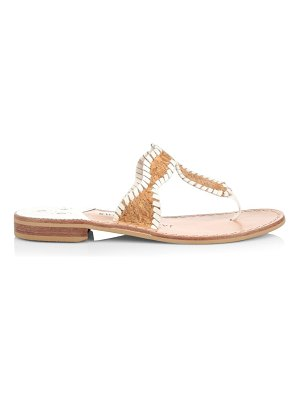 Jack Rogers jackie flat whipstitch cork thong sandals