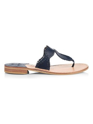 Jack Rogers jackie flat whipstitch leather thong sandals