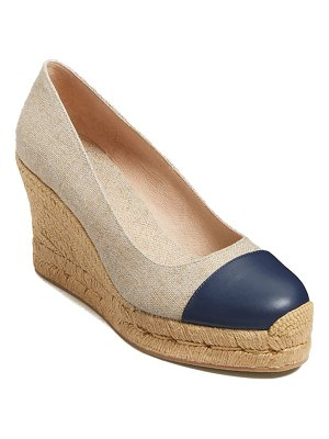 Jack Rogers palmer woven wedge pump