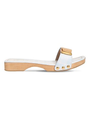 JACQUEMUS 20mm les tatanes leather slides