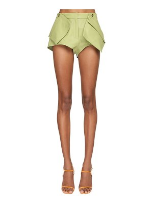 JACQUEMUS 3d pocket leather shorts