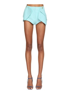 JACQUEMUS 3d pockets leather shorts