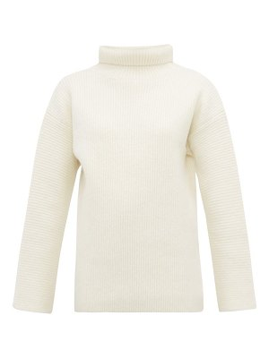 JACQUEMUS agde ribbed roll neck wool blend sweater