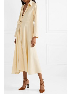 JACQUEMUS aissa belted canvas midi dress