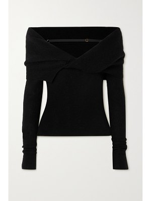 JACQUEMUS ascua off-the-shoulder knitted sweater