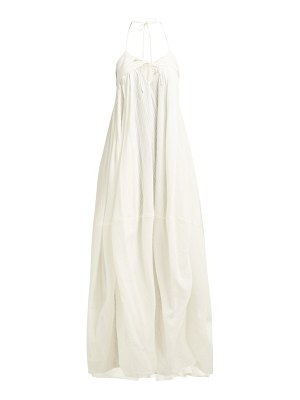 JACQUEMUS Calci Cotton Blend Halter Neck Maxi Dress