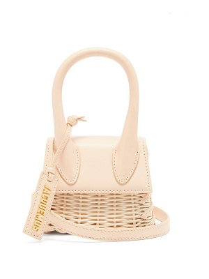 JACQUEMUS chiquito leather and wicker cross-body bag