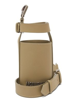 JACQUEMUS cross-body leather bottle holder