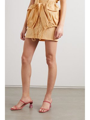 JACQUEMUS cueillette courte layered gathered poplin mini skirt
