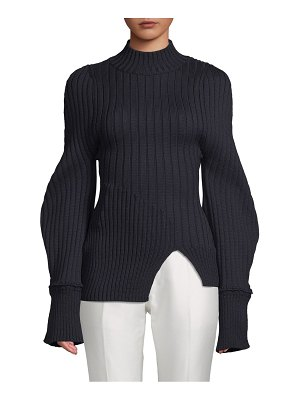 JACQUEMUS Full-Sleeve Ribbed Wool Sweater