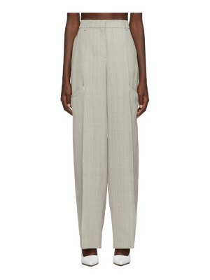JACQUEMUS grey le pantalon moyo trousers