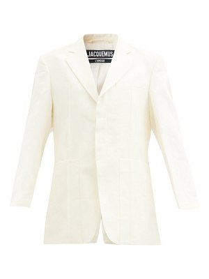 JACQUEMUS homme oversized single-breasted linen blazer