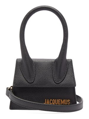 JACQUEMUS le chiquito grained leather cross body bag