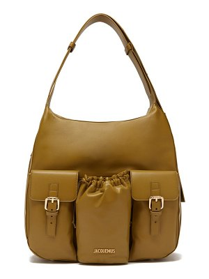JACQUEMUS le iba leather shoulder bag