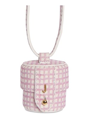 JACQUEMUS Le micro vanity printed leather bag