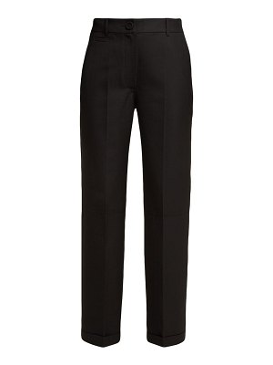 JACQUEMUS le pantalon carino high rise cotton trousers