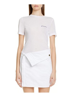 JACQUEMUS le t-shirt embroidered logo tee