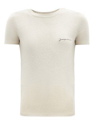 JACQUEMUS logo-embroidered jersey t-shirt