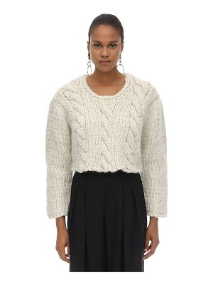 JACQUEMUS Mélange cropped wool knit sweater
