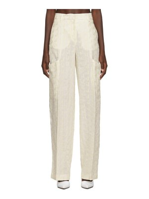 JACQUEMUS off-white le pantalon moyo trousers