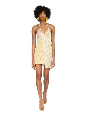 JACQUEMUS Printed rib knit wrap mini dress