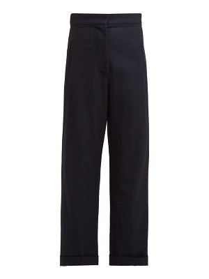 JACQUEMUS revers wide leg wool trousers