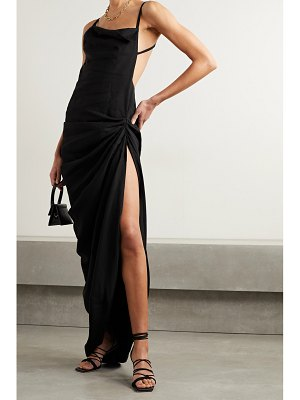 JACQUEMUS saudade open-back ruched twill maxi dress