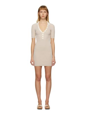 JACQUEMUS ssense exclusive beige la robe polo dress