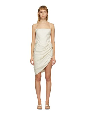 JACQUEMUS ssense exclusive off-white la robe saudade dress