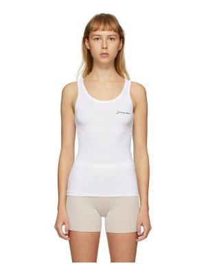 JACQUEMUS ssense exclusive white le marcel tank top