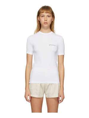 JACQUEMUS ssense exclusive white le t-shirt de collection t-shirt