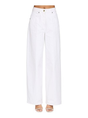 JACQUEMUS Wide leg cotton denim jeans