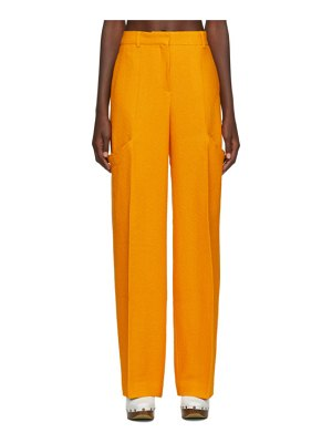 JACQUEMUS yellow le pantalon moyo trousers