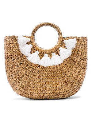 JADEtribe Small 7 Tassel Basket