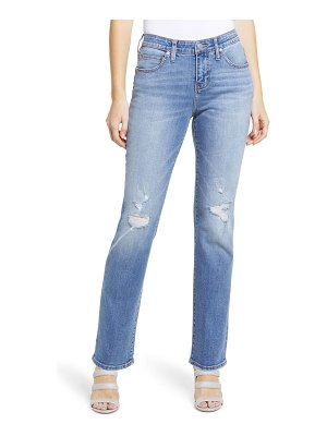 Jag Jeans ruby distressed high waist straight leg jeans