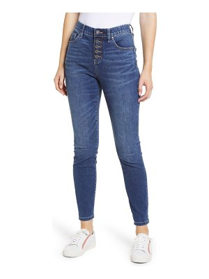 Jag Jeans valentina pull-on high waist exposed button ankle skinny jeans