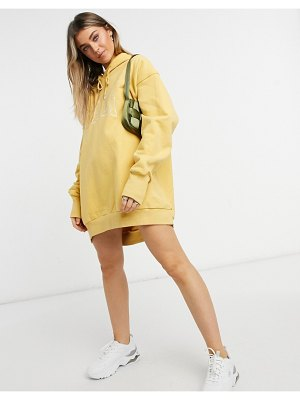 Jagger and Stone jagger & stone extreme oversized hoodie dress with cali print-yellow