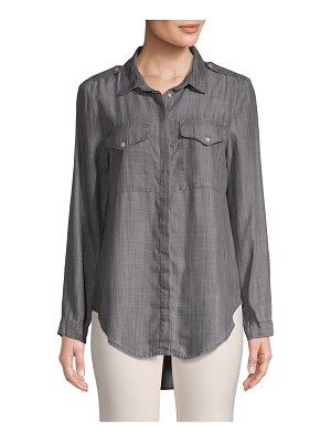 Jak & Rae Classic High-Low Button-Down Shirt