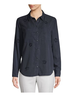 Jak & Rae Distressed Star Button-Down Shirt
