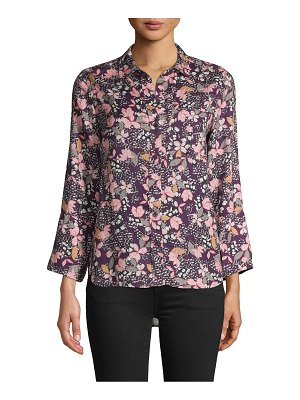 Jak & Rae Floral-Print Long-Sleeve Shirt