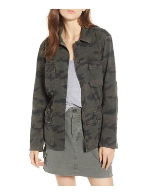 James Perse camo cotton military jacket