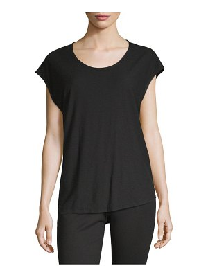 James Perse Classic Cap-Sleeve Tee