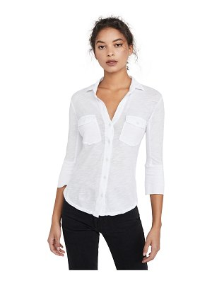 James Perse contrast panel shirt