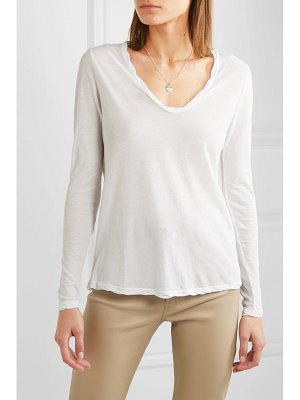 James Perse heather cotton-jersey top