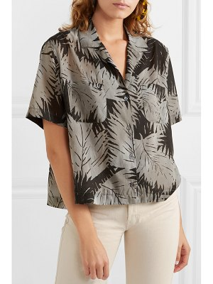 James Perse printed cotton-voile shirt