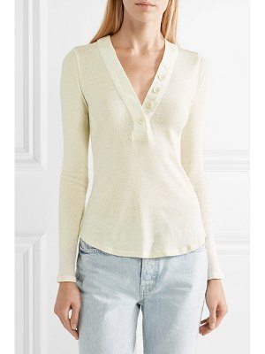 James Perse ribbed cotton-jersey top
